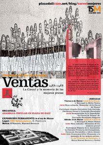 Cartel de Exposición Cárcel de Mujeres de Ventas. AP Plaza Dai - Salamanquesa 9-24 marzo 2012